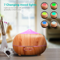 400ml Wood Grain Essential Diffusers Humidifier 7 Colour Changing LED Lights Aroma Diffuser US EU UK