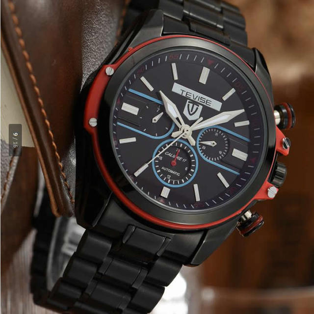 Casual men watches Mechanical Automatic steel male watches waterproof luxury brand tevise men's clocks luminous montre hommer