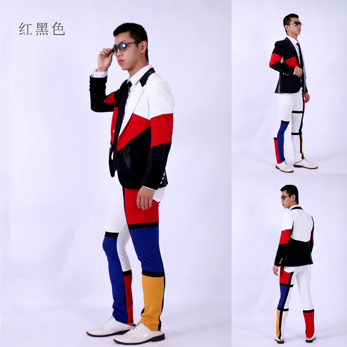 Aliexpress.com : Buy (jacket pants)suit male blue white red color ...