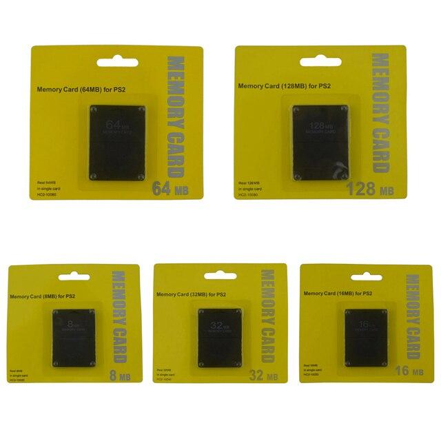 Tarjeta de memoria de alta calidad para Sony Playstation 2, PS2, 8MB, 16MB, 32MB, 64MB, 128MB, 10 uds.