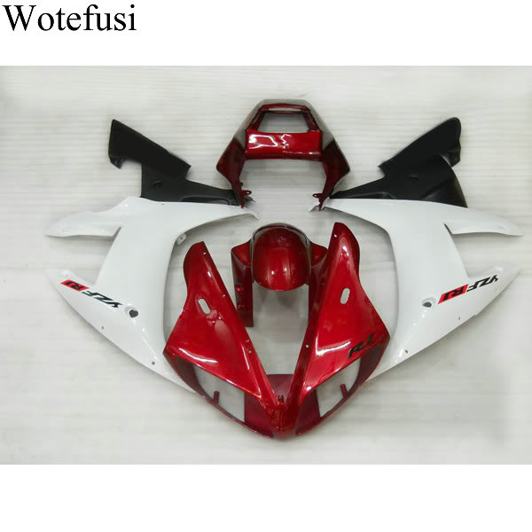 Wotefusi Hot New Red 2002 2003 Bodywork Motorcycle Fairing Set Injection Mold For YAMAHA YZF1000 R1 02-03 (17) [CK809] wotefusi black motorcycle injection mold bodywork motorcycle fairing for 2004 2005 2006 yamaha yzf1000 r1 04 05 06 3 [ck813]