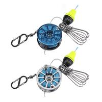 Flexible Stainless Steel Fishing Lock Buckle Live Fish Lock Belt Reel 7m Wire Length 5 Locks