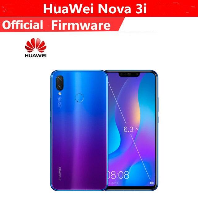 """Оригинальный HuaWei Nova 3i 4G LTE мобильный телефон Kirin 710 Android 8,1 6,3 """"FHD 128X1080 6 ГБ оперативная память 2340 ГБ Встроенная отпечатков пальцев 24.0MP"""