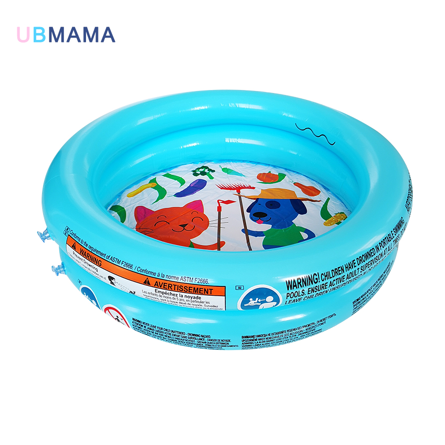 61*15CM Cute Plastic Inflatable Pool Round Inflation Baby Small Swimming Pool PVC Inflatable Tub Swim Center Inflatable Pool