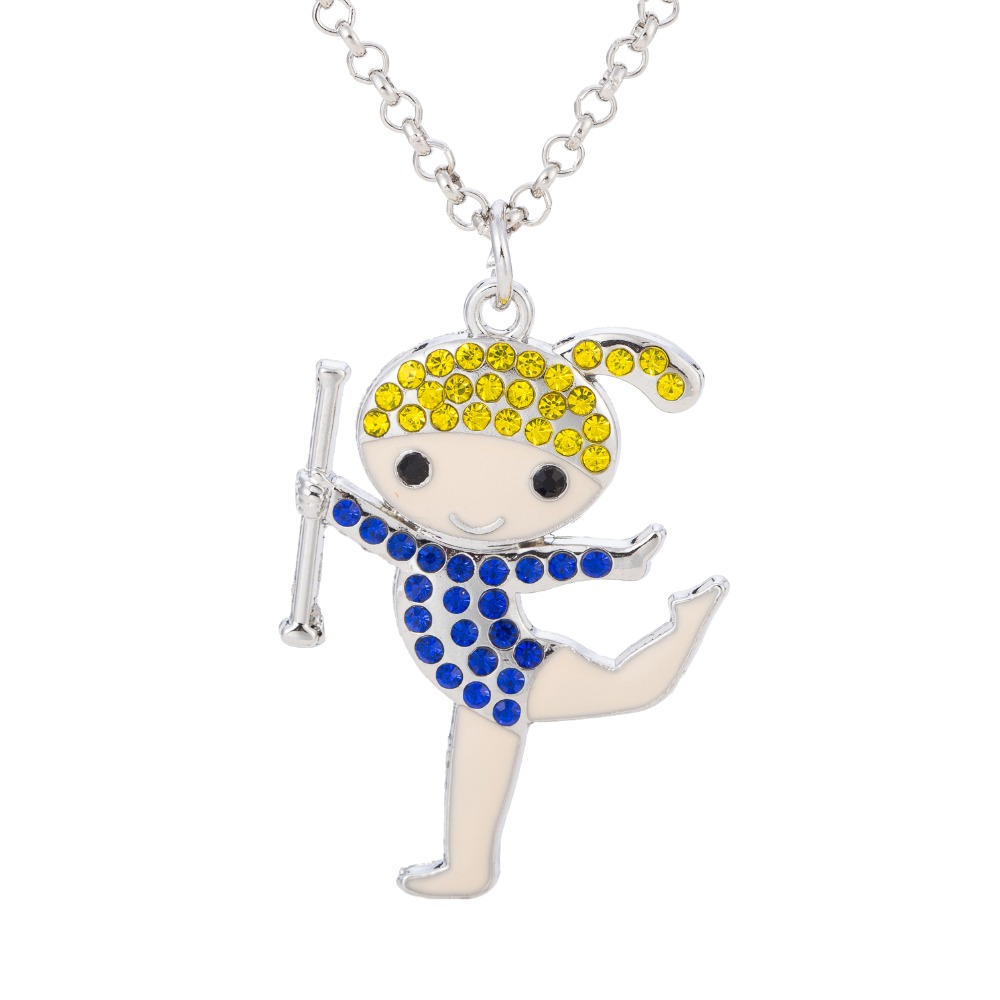 Minimal 2017 New Dancing Happy Girl Pendant Necklace Best ...