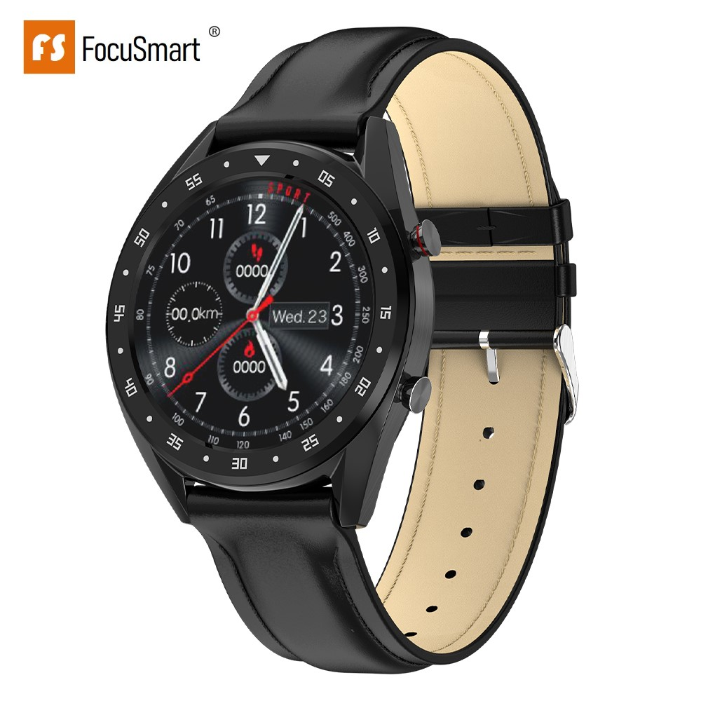 FocuSmart L7 Montre Intelligente Hommes 1.3 Pouces IP68Waterproof Sport Smartwatch Tracker D'activité ECG Montre Intelligente Bracelet pour IOS Android