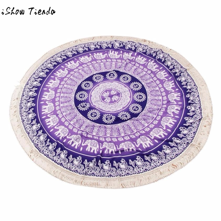 Microfiber Towel Round Beach Towel Pool Home Shower Towel Blanket Table Cloth Yoga Mat Toalla Playa