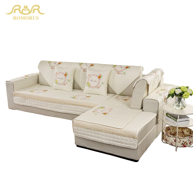 100 Cotton Sofas American Freight Sofa Sets Romorus Cover For Living Room Soft Non Slip L Shaped Sectional Slipcover Modern High Quality Corner Covers