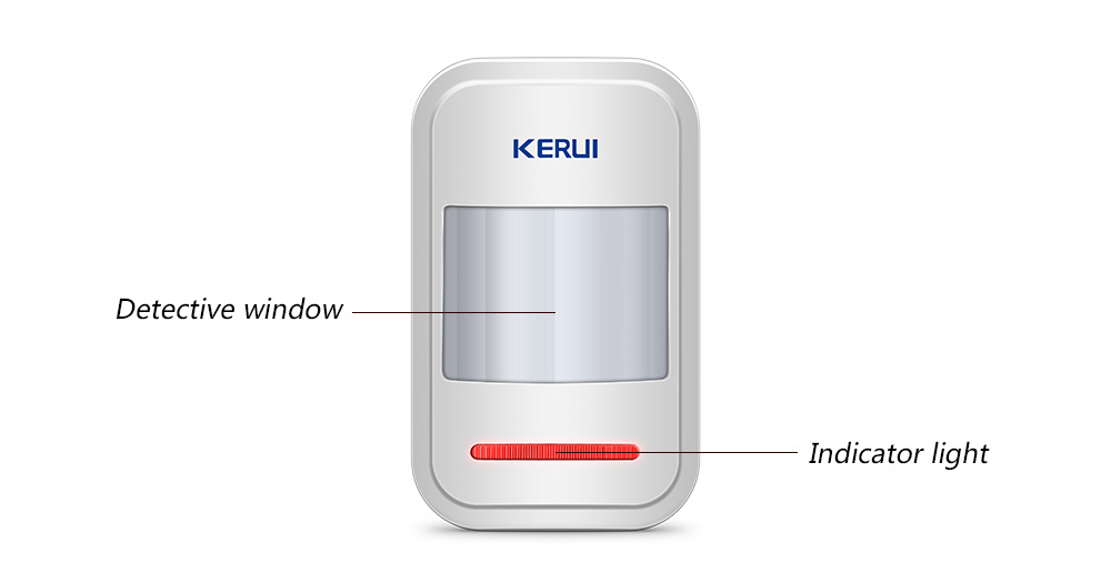 Image 3 - KERUI 433Mhz Rechargeable 5V USB Wireless PIR Motion Sensor Detector for Touch Keypad Panel Home Security Burglar Alarme System-in Sensor & Detector from Security & Protection
