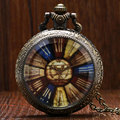 Retro Rainbow Dialpad Quartz Pocket Watch Man Women Classic Vintage Antique Necklace Steampunk Pendant Gift
