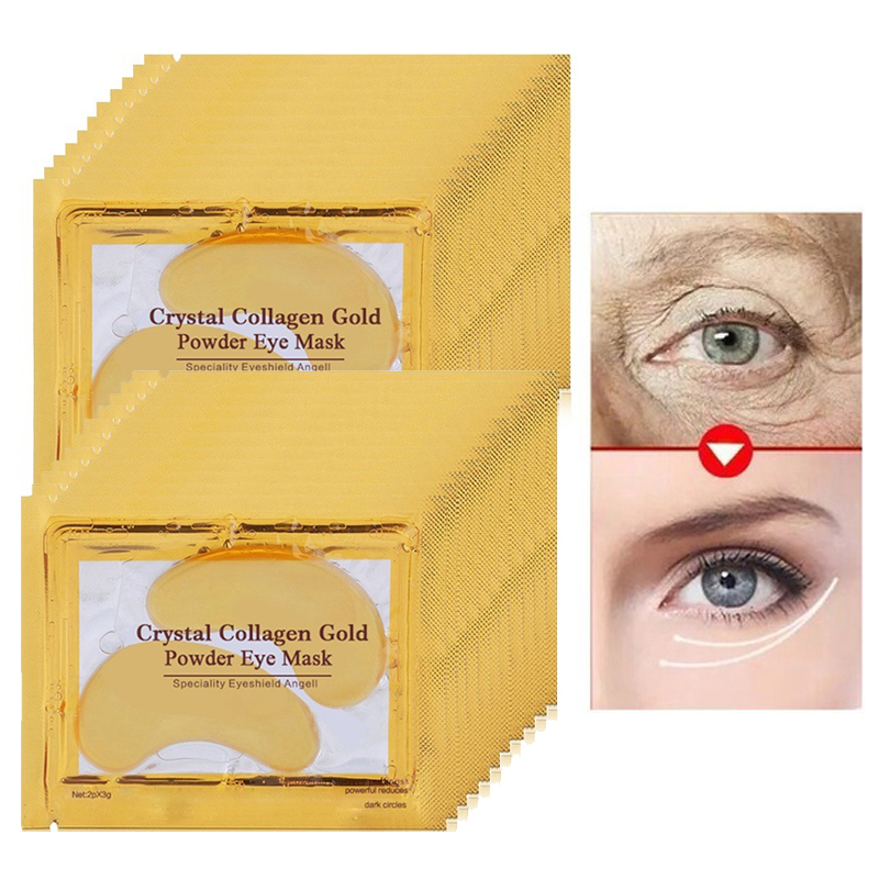 10pair=20pcs Anti Aging Eye Mask Gel Patches Under the Bags Removal Dark Circles Puffiness Care Moisturizing Cream
