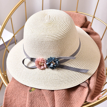 HT1553 2018 New Women Summer Hats Wide Brim Panama Bucket Packable Floppy Sun for Ladies Beach Straw