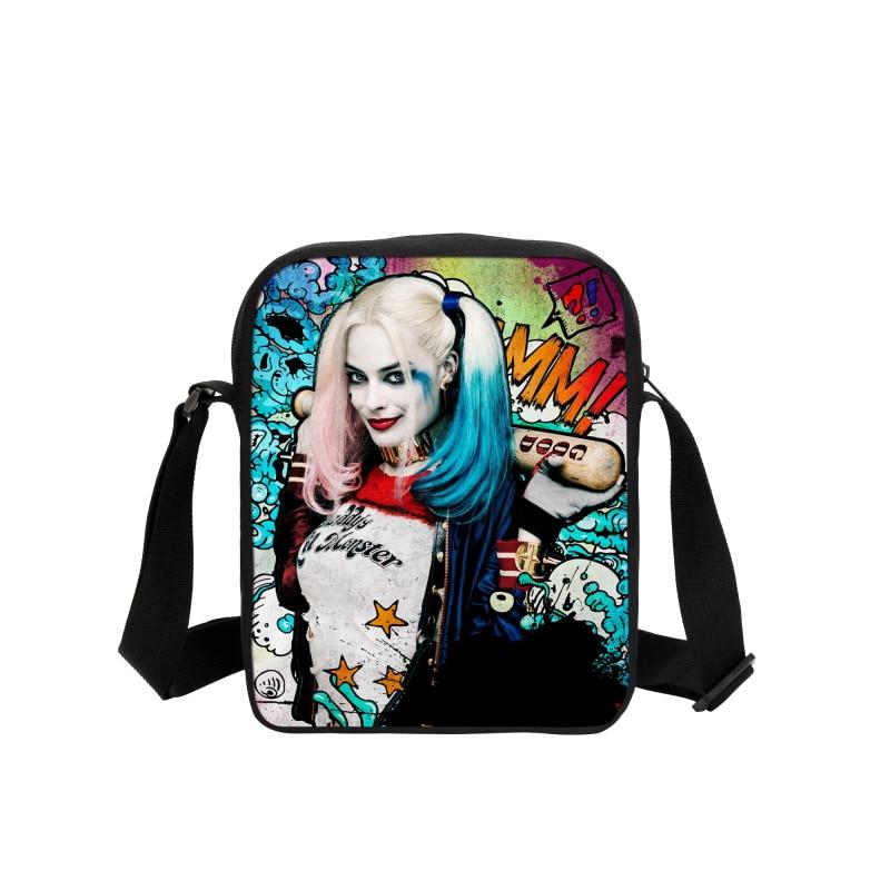 Suicide Squad Messenger Bags Joker Harley Quinn Rotten Deadshot Killer Croc Boomerang Katana Enchantress El Diablo Slipknot Bags