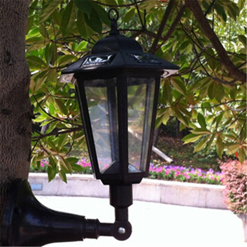 Retro LED Solar Panel Wall Lights Waterproof Garden Outdoor Landscape Lamp Path Street Energy Saving Garland Lighting decoration