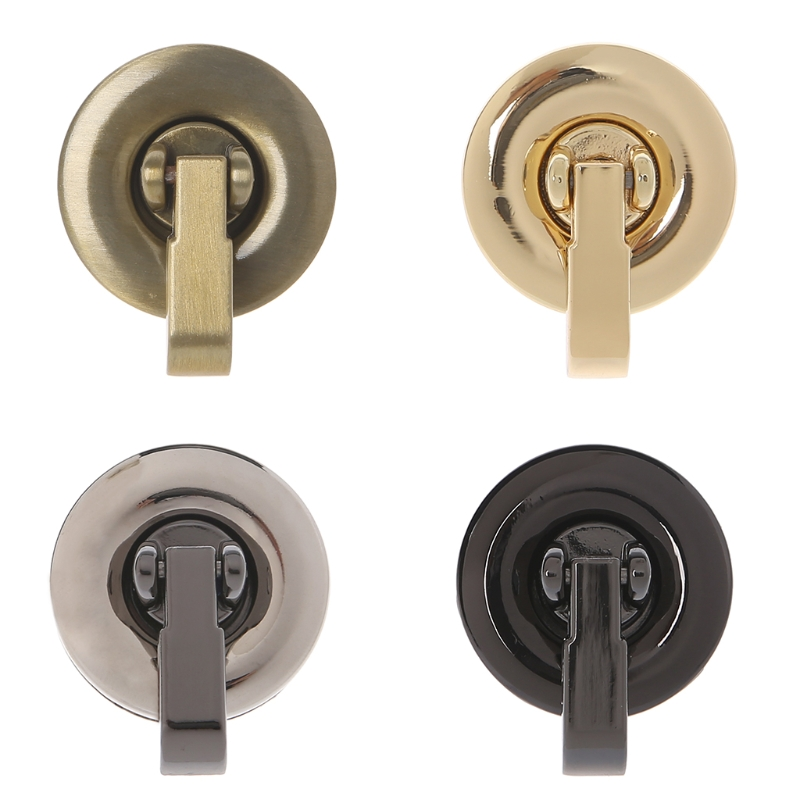 Hot New 1 Pc Bag Metal Round Shape Clasp Turn Lock Twist Lock For DIY Handbag Bag Purse Hardware Accessories 4 Colors