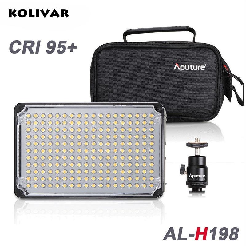 KOLIVAR Aputure Amaran H198 Led Light CRI 95+Camera Daylight Temperature Light Video Photo Lighting for DSLR Camera DV Camcorder цена и фото