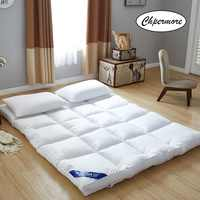 Chpermore five star hotel Thicken Feather velvet Mattress Foldable Tatami Single double Mattresses Cotton Cover King Queen Size