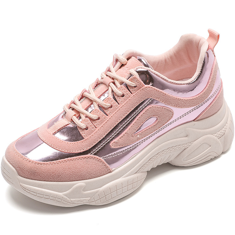 Women Chunky Sneakers Platform Shoes Breathable Woman Casual Shoes Female Pink Sneaker Ladies Dad Shoes Trainers Basket Femme