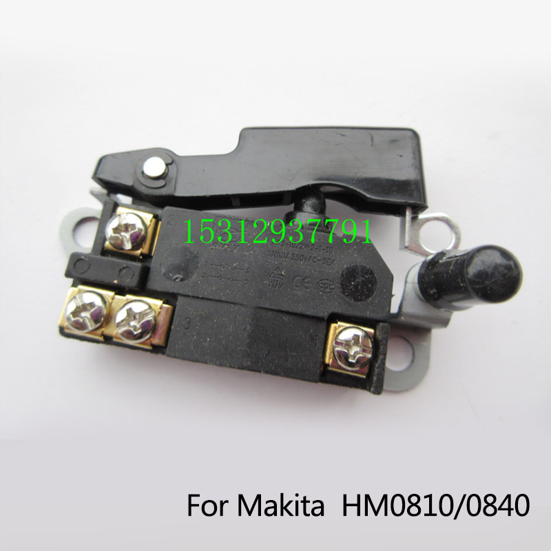 Подробнее о Free Shipping! Replacement Electric hammer Switch for Makita HM0810/0840,Power Tool Accessories, High quality! uxcell 17mm shank 270mm length electric pick hexagon flat spade for makita 0810
