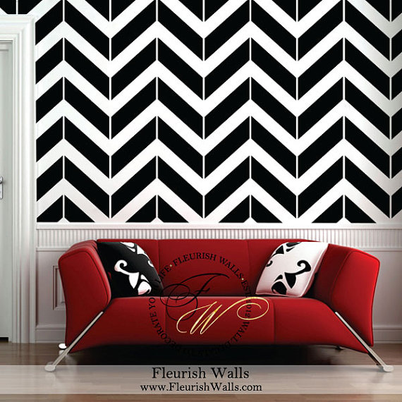 Tribal Arrow Chevron Wall Decals Zig Zag Pattern diy Wall Decor wall ...