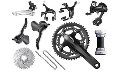 Shimano sora 3500 groupets road bike groupset black bicycle group set170 50-34 11-25, 2*9 speed west biking bike chain wheel 39 53t bicycle crank 170 175mm fit speed 9 mtb road bike cycling bicycle crank