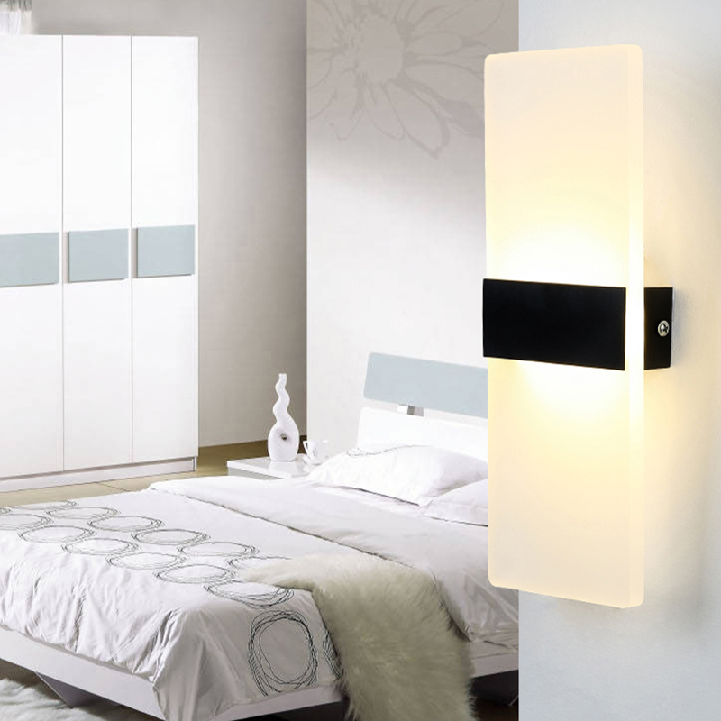Led wall lamp bedside lamp creative corridor bedroom living room modern minimalist hotel wall lamp
