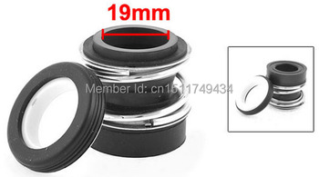 MB2-19 Ceramic Ring Rubber Bellows 19mm Inner Dia Pump Mechanical Seal 2pcs image