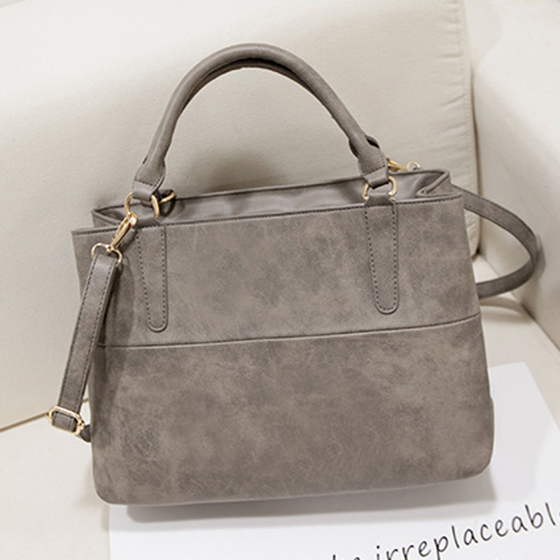 2017 Vintage Women Leather Handbag Satchels Shoulder Bag Ladies Luxury Handbags Women Bags Designer Hand Bags