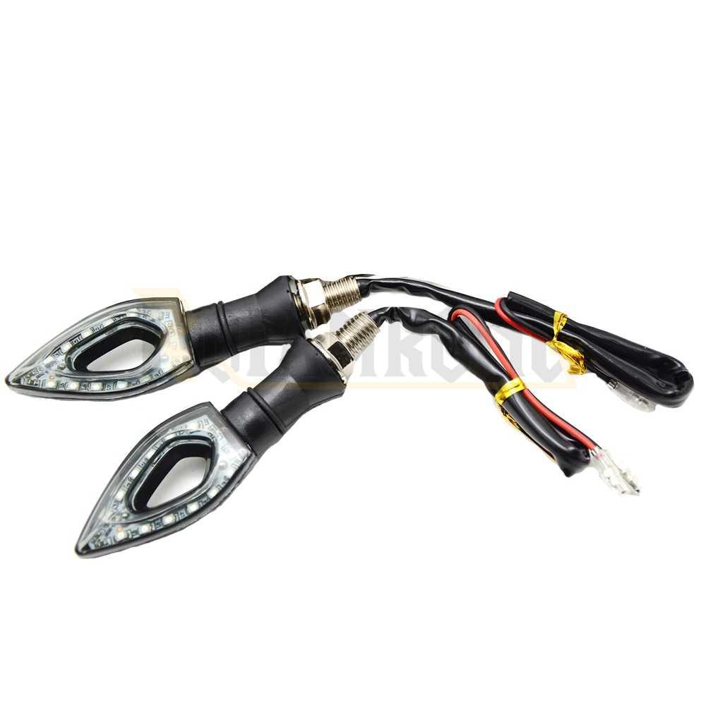 Luz de señal de giro LED de motocicleta Universal 12 lámpara de bicicleta de luz indicadora Led