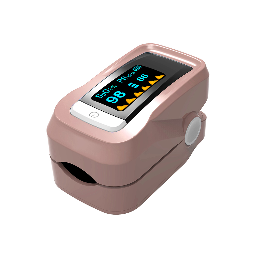 C101H1 SpO2 Fingertip Pulse Instant Read Digital Oximeter Blood Oxygen Sensor Saturation Monitor Meter Apricot