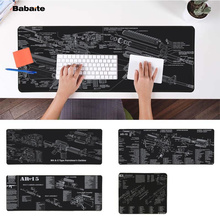 Babaite My Favorite CS GO gun parts m14 AR-15 HK45 AK47 98K Laptop Computer Mousepad Free Shipping Large Mouse Pad Keyboards Mat
