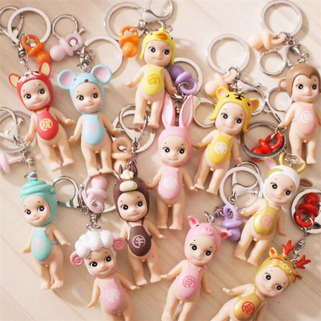 Mainan Boneka Kartun Lucu Gambar Bayi Gantungan Kunci Boneka Puting 777617f09f