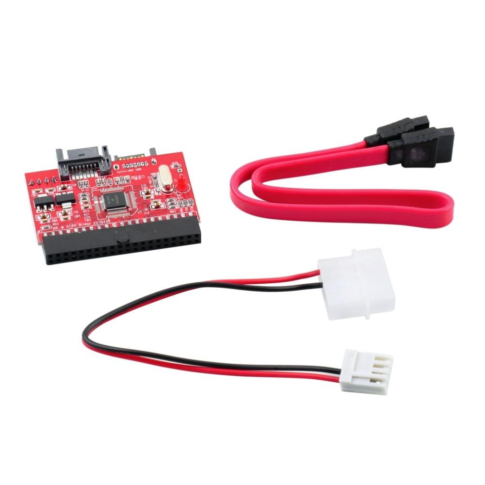 1 Pcs Drop Shipping  IDE HDD To SATA Serial ATA Converter Adapter