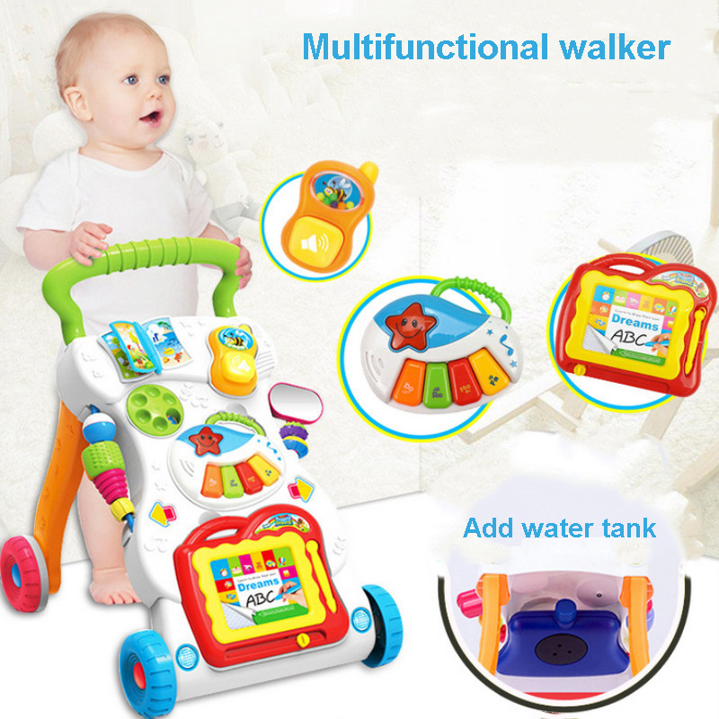 Music Baby Walker Multifunctional Toddler Trolley High Quality Sit to Stand Walker for Kids with Multiples