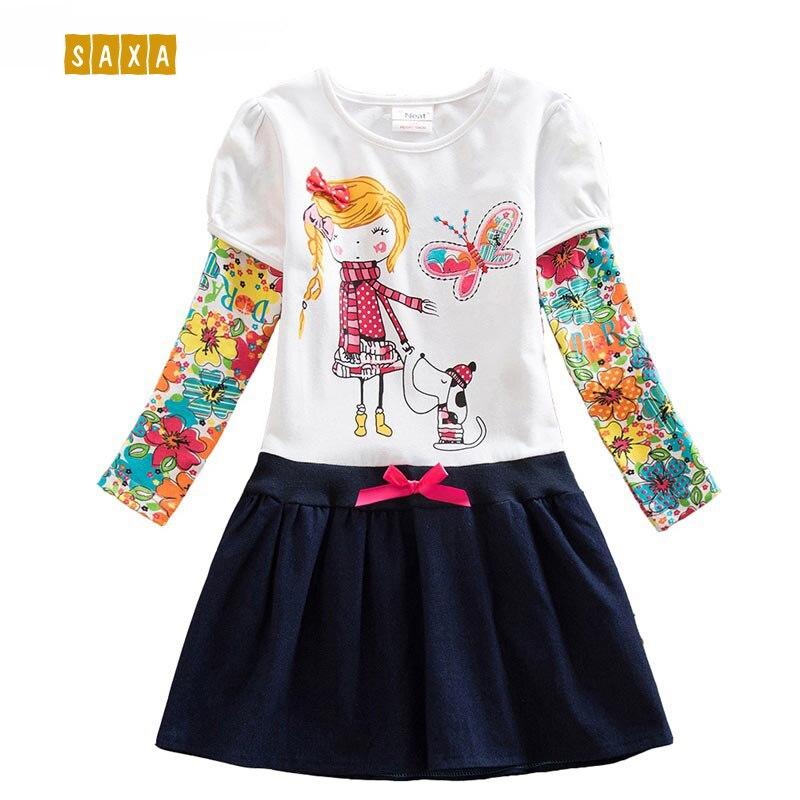 ff3753061272fb2 NEAT/платья для девочек, детское платье из 100% хлопка, детская одежда с