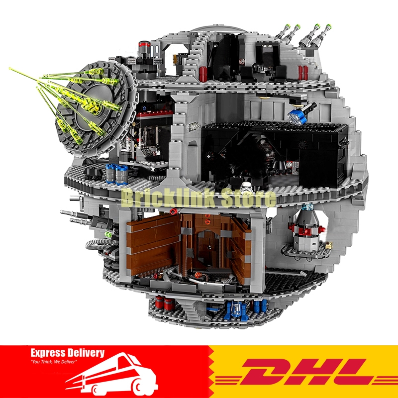 In Stock DHL LEPIN 05063 4016pcs Genuine New UCS Force Waken UCS Death Star Educational Building Blocks Bricks Clone 75159 in stock lepin 05063 4116pcs 05035 3804pcs star force waken ucs death wars model building blocks bricks toys gifts 75159 10188