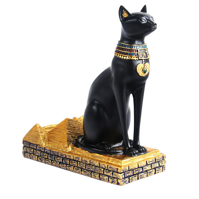 Ancient Egyptian Cat Bottle Holder