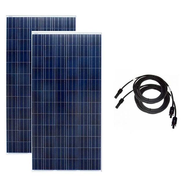แผงพลังงานแสงอาทิตย์ 300 W 24 V 2Pcs Panneaux Solaire 600 วัตต์ชาร์จพลังงานแสงอาทิตย์พลังงานแสงอาทิตย์ระบบ Motorhome Caravan รถ Camp เรือ