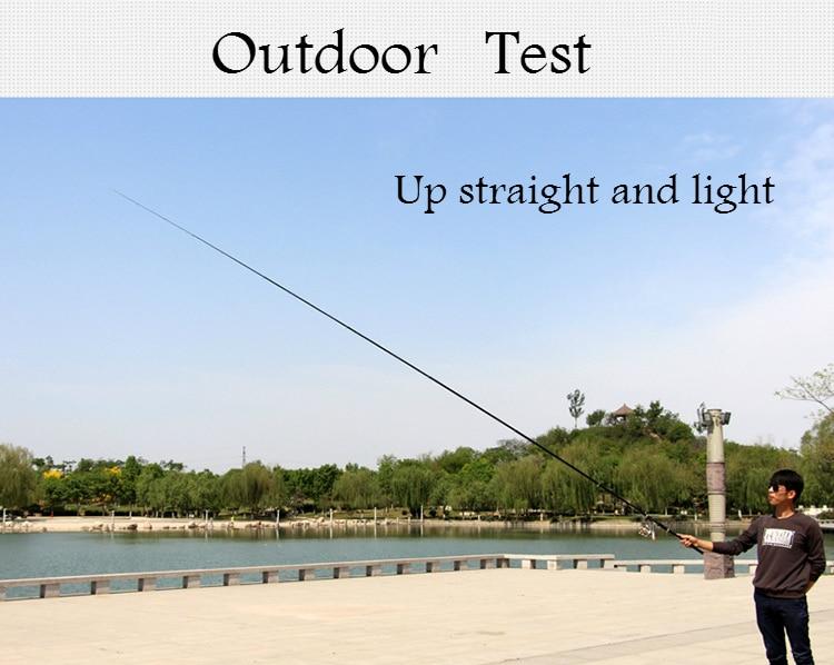 Rocha vara de pesca de fibra de