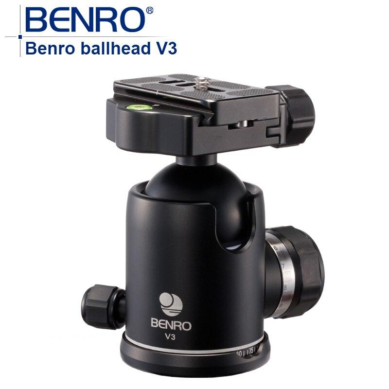 V Серии ballhead Benro V3 Профессиональный Магниевого Сплава Шаровые Головки Quick Release Для Штатива Камеры вес 0.55 кг Максимальная Нагрузка 35 кг