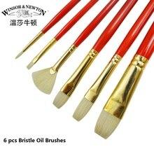 Winsor&Newton Extra Fine Bristle Oil Paint Brushes  Professional Artist  Oil Color Brush 4pcs/set  6pcs/set art supplies
