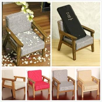 G08-X137 children baby gift Toy 1:6 Dollhouse mini Furniture Miniature rement Solid wood backrest sofa 1pcs