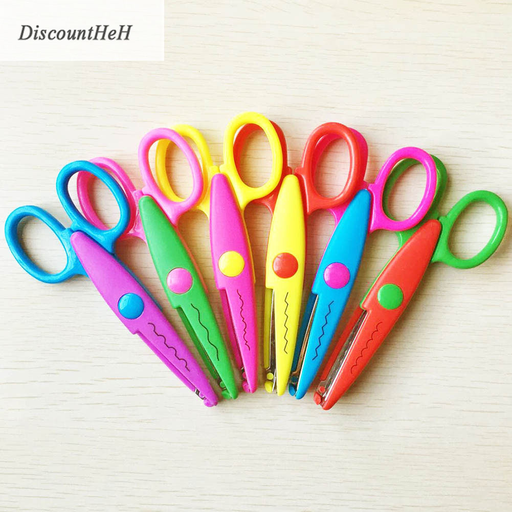 1 Pcs Lace Scissors Metal Plastic DIY Scrapbooking Photo Scissors For Kids Scrapbook Handmade School Escolar Papelaria