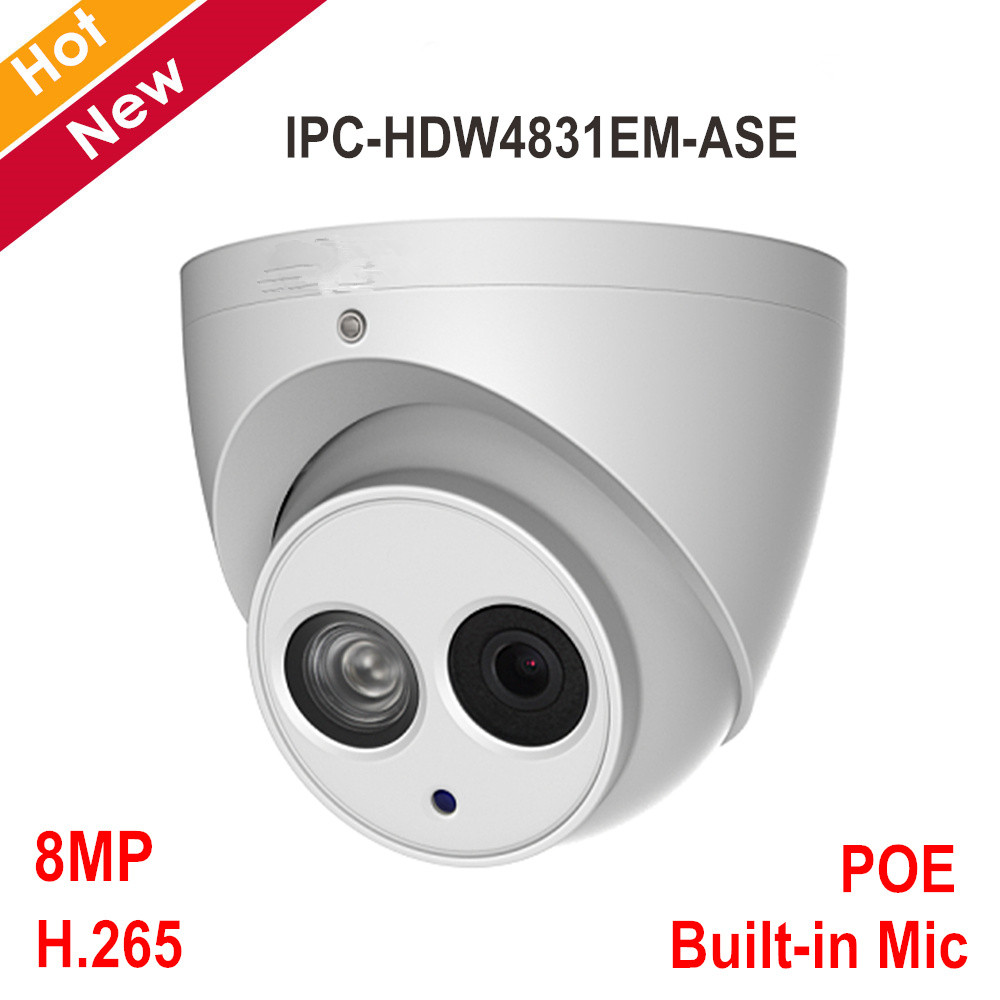 DH H 265 Built in MIC WDR IR 50m POE 8 MP IP Camera IPC HDW4831EM