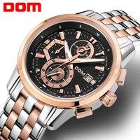 DOM Роскошные спортивные часы Для мужчин хронограф Бизнес Для мужчин часы модные Военная Униформа армии мужской часы кварцевые наручные час