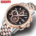 Relógio Do Esporte Dos Homens Do Cronógrafo De Luxo DOM Negócios Men Watch Moda Militar Do Exército Relógio Masculino Quartz Relógio de Pulso para Homens