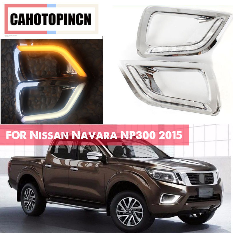For Nissan Navara NP300 2015 2016 Yellow turn Signal style Relay waterproof 12V LED Daytime Running