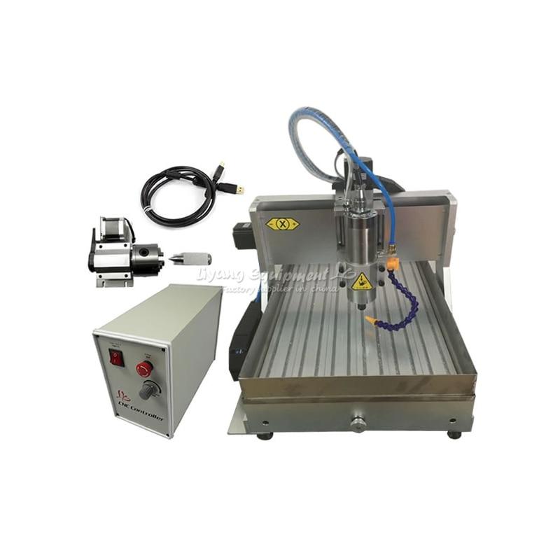 4axis Mini CNC Router Wood Cnc 3040 2200w Aluminum Copper Metal Engraving Cnc Milling Machine