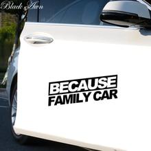 Because family car sticker funny race drift JDM hooligan stance Drift WRX decal D023