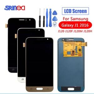 Image 1 - SM J120FN/F/DS Für Samsung Galaxy J1 2016 J120 LCD Display Touchscreen J120H J120FN J120F J120M Bildschirm einstellen Helligkeit Werkzeuge